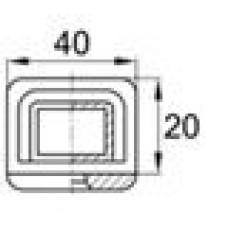 Наконечник пластиковый для труб прямоугольного сечения с внешними габаритами 40х20 мм