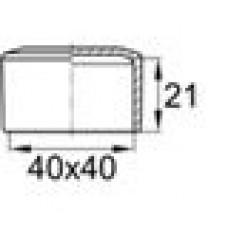 Заглушка пластиковая наружная для труб квадратного сечения с внешними габаритами сечения 40х40 мм.