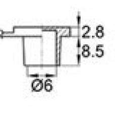 Пластиковый колпачок диаметром 6 мм с держателем. Применяется для защиты смазочных пресс-маслёнок. Материал — термопластичный эластомер.