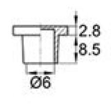 Пластиковый колпачок диаметром 6 мм. Применяется для защиты смазочных пресс-маслёнок. Материал — термопластичный эластомер.