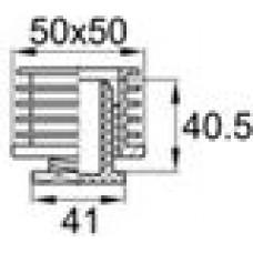 Пластиковая регулируемая опора для трубы 50х50 мм
