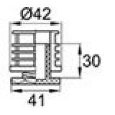 Опора пластиковая регулируемая с резьбовым соединением M30x28 для труб круглого сечения с внешним диаметром 42 мм и толщиной стенки трубы 1.5-2 мм.