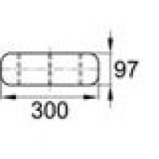 Защитная подкладка из ПВХ для шлангов. Длина — 304,8 мм.