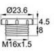 Пластиковая заглушка для защиты резьбы М16x1.5.