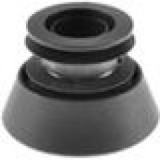 Опора пластиковая регулируемая резьбовым соединением М30x30 под трубу круглого сечения с внешним диаметром 50 мм, толщина стенки трубы 1.5-2 мм
