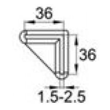 Опора пластиковая для равнополочных уголков с размером 36х36x1.5-2.5