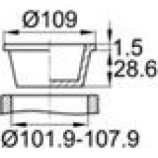 Универсальная пробка конической формы. Гибкая, но при этом прочная. Изготовлена из полиэтилена высокого давления. Диаметр заходящей части — 101.9-107.5 мм, внутренний диаметр — 98-103 мм.
