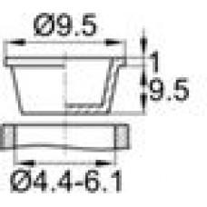 Пробка, изготовленная из полиэтилена низкой плотности. Универсальна для внутреннего и наружного использования. Диаметр заходящей части —  4.4-6.1 мм, внутренний диаметр — 2.8-4.5 мм.