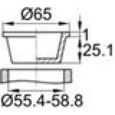 Универсальная пластиковая пробка конической формы. Подойдет для внутреннего и наружного использования. Диаметр заходящей части — 55.4-58.8 мм, внутренний диаметр — 53.7-57.2 мм.