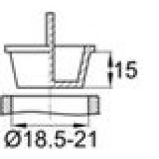 Универсальная пластиковая пробка под отверстие. Имеет вертикальную ручку для более удобного монтажа и демонтажа. Применима под отверстие диаметром 18.5–21 мм.