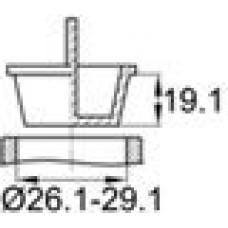 Пробка, изготовленная из полиэтилена низкой плотности. Предусмотрена вертикальная ручка для более удобного монтажа и демонтажа. Подойдет под отверстие диаметром 26.1–29.1 мм.