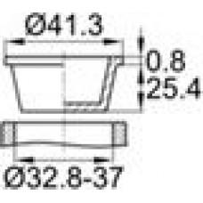 Универсальная пробка конической формы. Применяется для защиты внутренней и наружной резьбы. Диаметр заходящей части — 32.8-37 мм, внутренний диаметр — 31.2-35.3 мм.