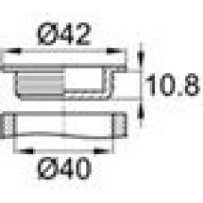 Универсальная пластиковая пробка. Подойдет для внутреннего и наружного использования. Имеет выступы для более удобного извлечения. Диаметр заходящей части — 40 мм, глубина заходящей части—  10.8 мм.