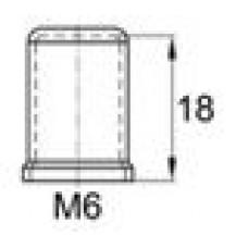 Пластиковый колпачок под болт-гайку M6. Высота колпачка 18 мм. Подходит под ключ 10 мм.