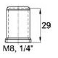 Пластиковый колпачок под болт-гайку M8. Высота колпачка 29 мм. Подходит под ключ 13 мм.