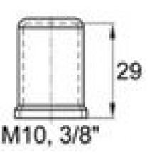 Пластиковый колпачок под болт-гайку М10. Высота колпачка 29 мм. Подходит под ключ 17 мм.