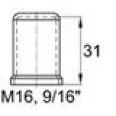 Пластиковый колпачок под болт-гайку М16. Высота колпачка 31 мм. Подходит под ключ 24 мм.
