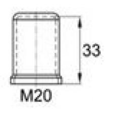 Пластиковый колпачок под болт-гайку М20. Высота колпачка 34 мм. Подходит под ключ 30 мм.