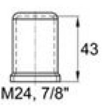 Пластиковый колпачок под болт-гайку М24. Высота колпачка 43 мм. Подходит под ключ 36 мм.
