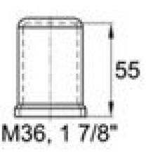 Пластиковый колпачок под болт-гайку М36. Высота колпачка 55 мм. Подходит под ключ 55 мм.