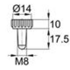 Пластиковая заглушка под отверстие диаметром 6.2-7.5 мм. Подходит под резьбу М8.