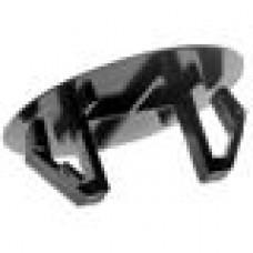 Заглушка пластиковая под отверстие d45-48, с ультратонкой шляпкой D52 мм, толщиной 1.6 мм, чёрная