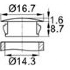 Заглушка под отверстие диаметром 14,3 мм.