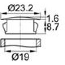 Заглушка под отверстие диаметром 19 мм.