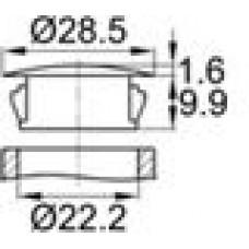 Заглушка под отверстие диаметром 22,2 мм.