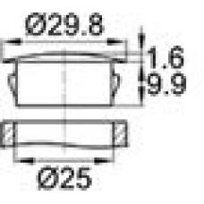 Заглушка под отверстие диаметром 25 мм.