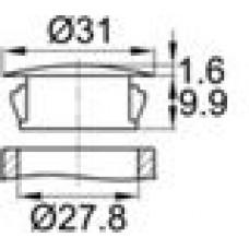 Заглушка под отверстие диаметром 27,8 мм.