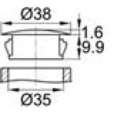 Заглушка под отверстие диаметром 35 мм.