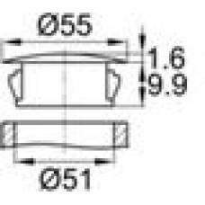 Заглушка под отверстие диаметром 51 мм.