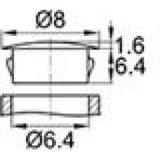 Заглушка под отверстие диаметром 6.4 мм.