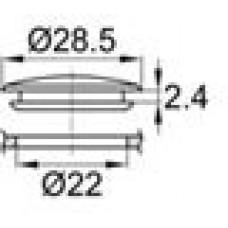 Заглушка из ПВХ под отверстие диаметром 22 мм.
