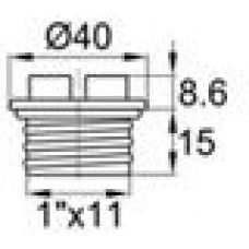 Заглушка пластиковая с уплотнительным кольцом из каучука. Подходит под внутреннюю резьбу 1