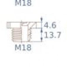 Заглушка пластиковая для внутренней резьбы M18X1.5, красная,Серия TFU