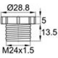 Заглушка пластиковая для внутренней резьбы M24, красная,Серия TFU
