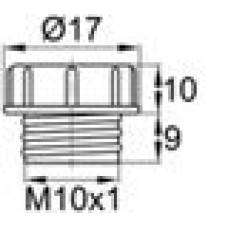 Пластиковый колпачок для защиты внутренней резьбы М10х1.