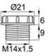 Пластиковый колпачок для защиты внутренней резьбы M14x1.5.