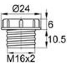Пластиковый колпачок для защиты внутренней резьбы М16х2.