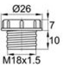 Пластиковый колпачок для защиты внутренней резьбы M18x1.5.