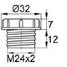 Пластиковый колпачок для защиты внутренней резьбы М24х2.