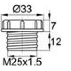 Пластиковый колпачок для защиты внутренней резьбы M25x1.5.