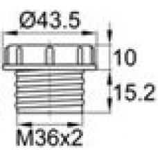 Пластиковый колпачок для защиты внутренней резьбы M36x2.