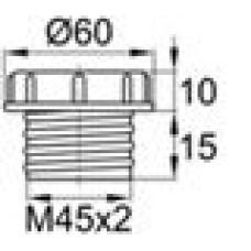 Пластиковый колпачок для защиты внутренней резьбы M45x2.