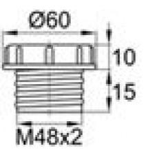 Пластиковый колпачок для защиты внутренней резьбы M48x2.