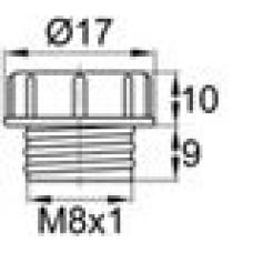 Пластиковый колпачок для защиты внутренней резьбы М8х1.