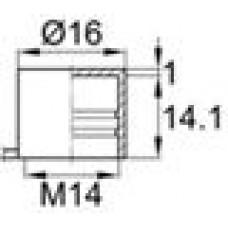 Пластиковый колпачок для наружной резьбы М14. Имеет отрывной ярлычок.