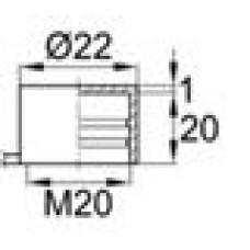 Пластиковый колпачок для наружной резьбы М20. Имеет отрывной ярлычок.